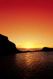 Coucher du soleil d'océan image stock