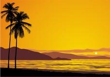 Coucher du soleil d'océan Photo libre de droits