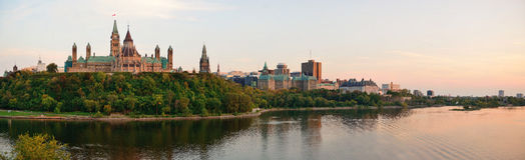 Coucher du soleil d'Ottawa Photos stock