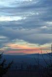 Coucher du soleil d'un Ridge Photographie stock libre de droits