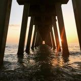 Coucher du soleil d'Underbridge photographie stock libre de droits