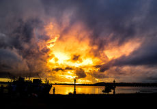 Coucher du soleil d'UNICE image stock