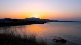 Coucher du soleil dans Ahtopol Image stock