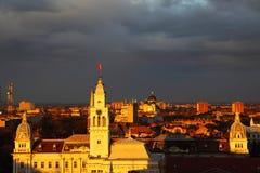 Coucher du soleil dans Arad Photographie stock libre de droits