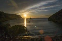 Coucher du soleil dans Bènirras Photographie stock