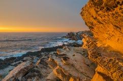 Coucher du soleil dans Baleal Photo libre de droits