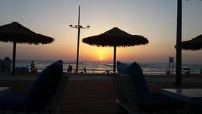 Coucher du soleil dans Batyam Images libres de droits