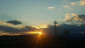 Coucher du soleil dans Biga Photo stock
