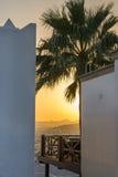 Coucher du soleil dans Bodrum Photographie stock