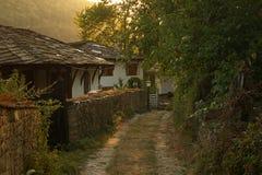 Coucher du soleil dans Bozhentsi Image libre de droits