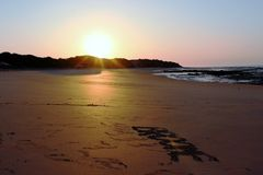 Coucher du soleil dans Broome Photographie stock libre de droits