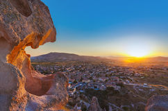 Coucher du soleil dans Cappadocia Turquie Images libres de droits