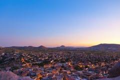 Coucher du soleil dans Cappadocia Turquie Photo stock