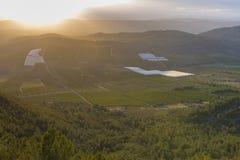 Coucher du soleil dans Castellon, Espagne Images libres de droits