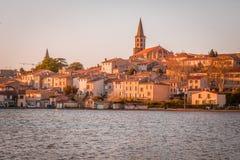 Coucher du soleil dans Castelnaudary, France photographie stock libre de droits