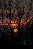 Coucher du soleil dans Collsacabra Image stock