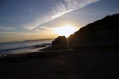 Coucher du soleil dans Cornouailles Images stock