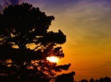 Coucher du soleil dans des actualités de Newport, la Virginie Photo stock