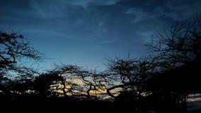 Coucher du soleil dans Desierto de la Tatacoa Photographie stock