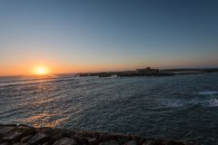 Coucher du soleil dans Essaouira Maroc Photographie stock
