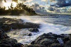 Coucher du soleil dans Hilo Photographie stock libre de droits
