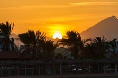 Coucher du soleil dans Hurghada, Egypte Photographie stock libre de droits
