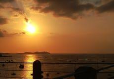 Coucher du soleil dans Ibiza image stock