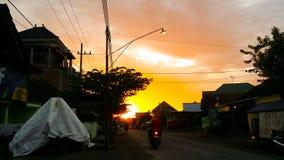 Coucher du soleil dans kidal image stock