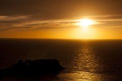 Coucher du soleil dans Kusadasi, Turquie Image stock