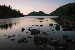 Coucher du soleil dans l'Acadia Images libres de droits