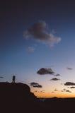 Coucher du soleil dans l'amour Photographie stock