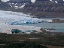 Coucher du soleil dans l'Arctique Photo libre de droits