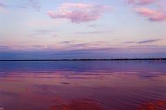 Coucher du soleil dans l'arkhangelsk Photos libres de droits