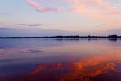 Coucher du soleil dans l'arkhangelsk Images stock