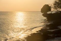 Coucher du soleil dans l'Océan Indien Photo stock