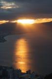 Coucher du soleil dans la baie du nord 2 images libres de droits