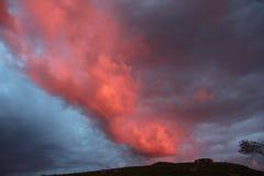 Coucher du soleil dans la côte ouest Norvège Image stock