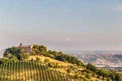 Coucher du soleil dans la campagne italienne Photos stock