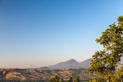 Coucher du soleil dans la campagne italienne Photo libre de droits
