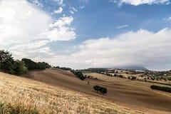 Coucher du soleil dans la campagne italienne Photos libres de droits
