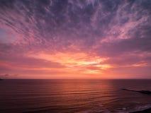 Coucher du soleil dans la couleur rose Photographie stock