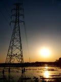 Coucher du soleil dans la ferme Chiang Rai photos libres de droits