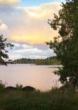 Coucher du soleil dans la nature Photos libres de droits
