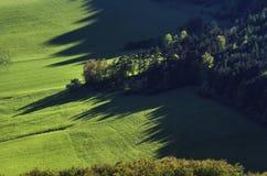 Coucher du soleil dans la vallée Image stock