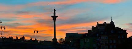 Coucher du soleil dans la vieille ville Image libre de droits