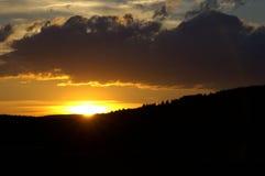 Coucher du soleil dans le Cévennes, France. Images libres de droits