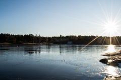 Coucher du soleil dans le compartiment de Dusa Photographie stock libre de droits