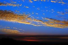 Coucher du soleil dans le compartiment de Sydney Photographie stock libre de droits