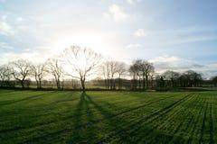 Coucher du soleil dans le gathurst Image libre de droits