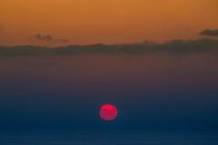 Coucher du soleil dans le golfe de Thaïlande Images libres de droits